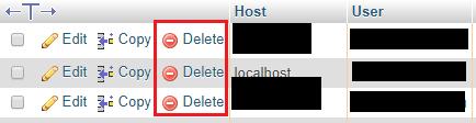 حذف نام کاربری هاست