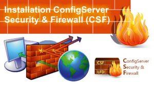 نصب فایروال csf در سرور لینوکس