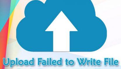 آموزش رفع ارور Upload: Failed to Write File to Disk در وردپرس